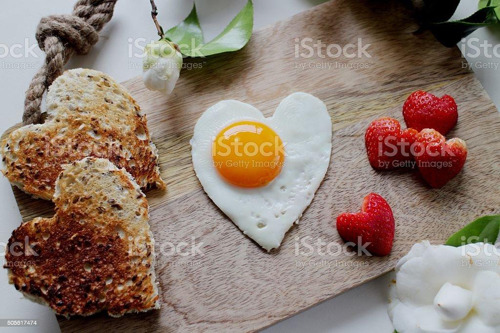 Heart Valentine's day breakfast