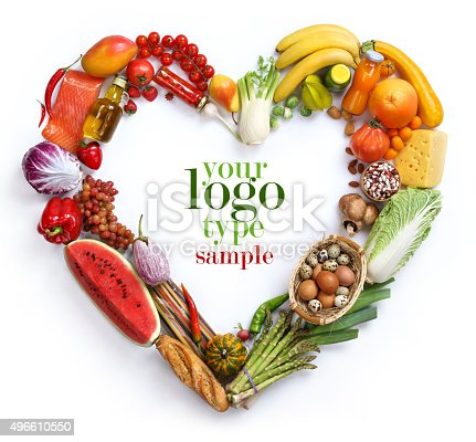 istock Heart vegetables symbol 496610550