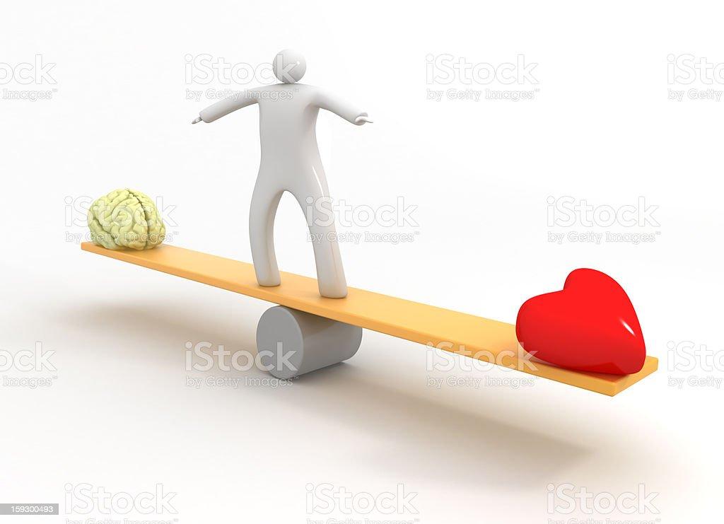 Heart vs Mind royalty-free stock photo