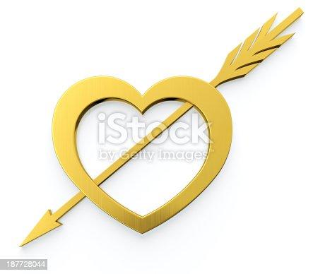 970844120 istock photo Heart with arrow 187728044