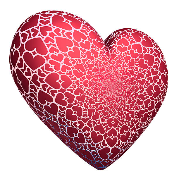 Heart with Lace Pattern stock photo