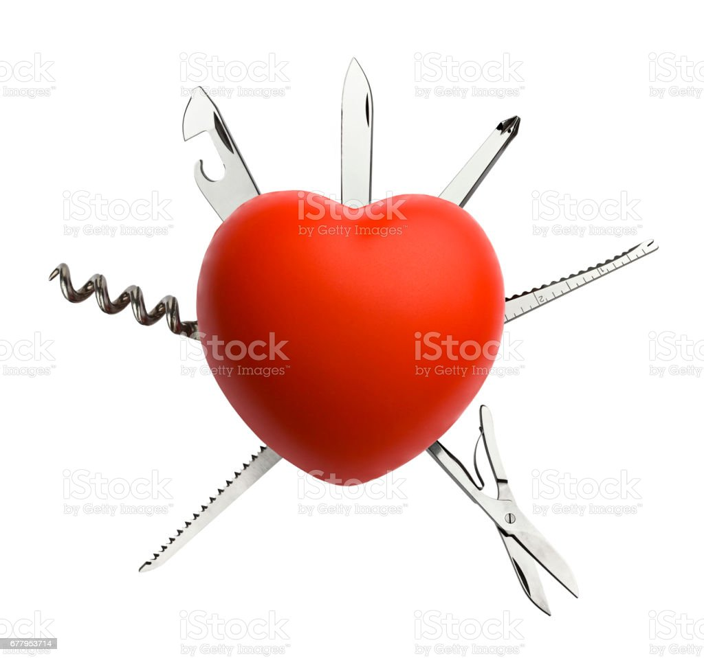 Heart with Work Tool stock photo