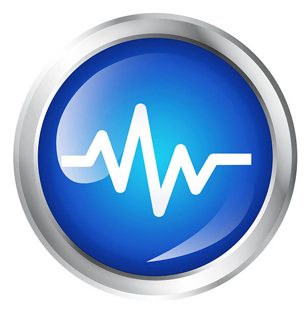 heartbeat icon - wave icon stock photos and pictures
