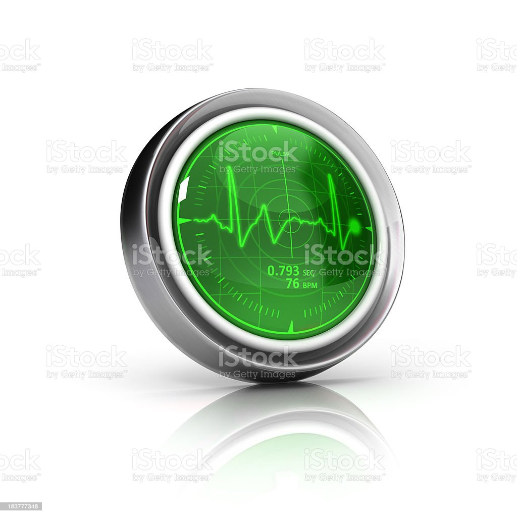 heartbeat meter icon royalty-free stock photo
