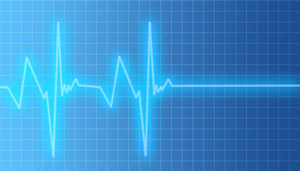heartbeat pulsating to flat line - taking pulse stock photos and pictures