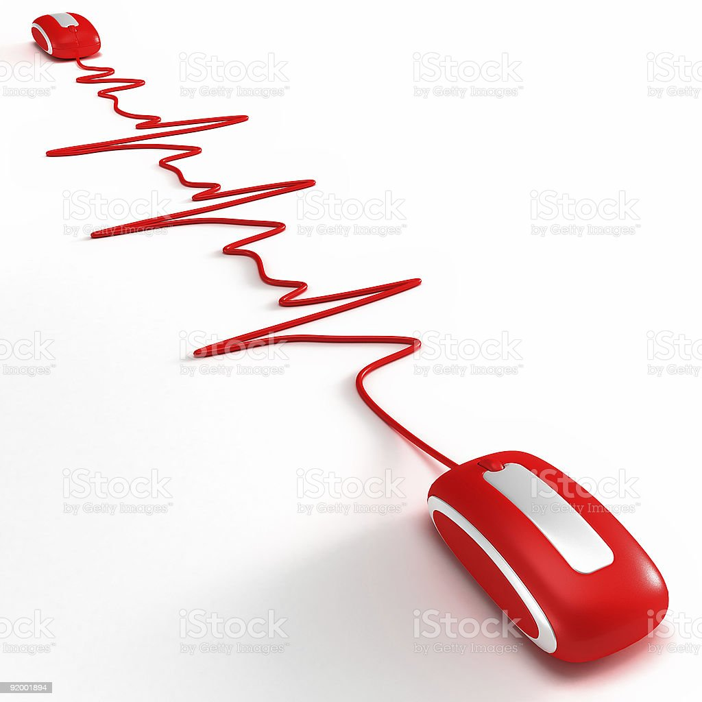 Heartbeating in internet 3 stock photo