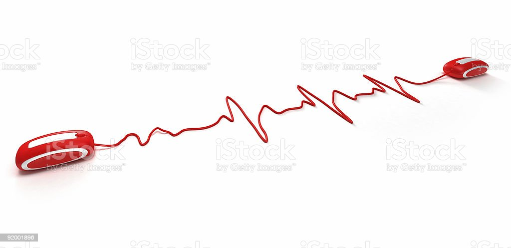 Heartbeating in internet stock photo