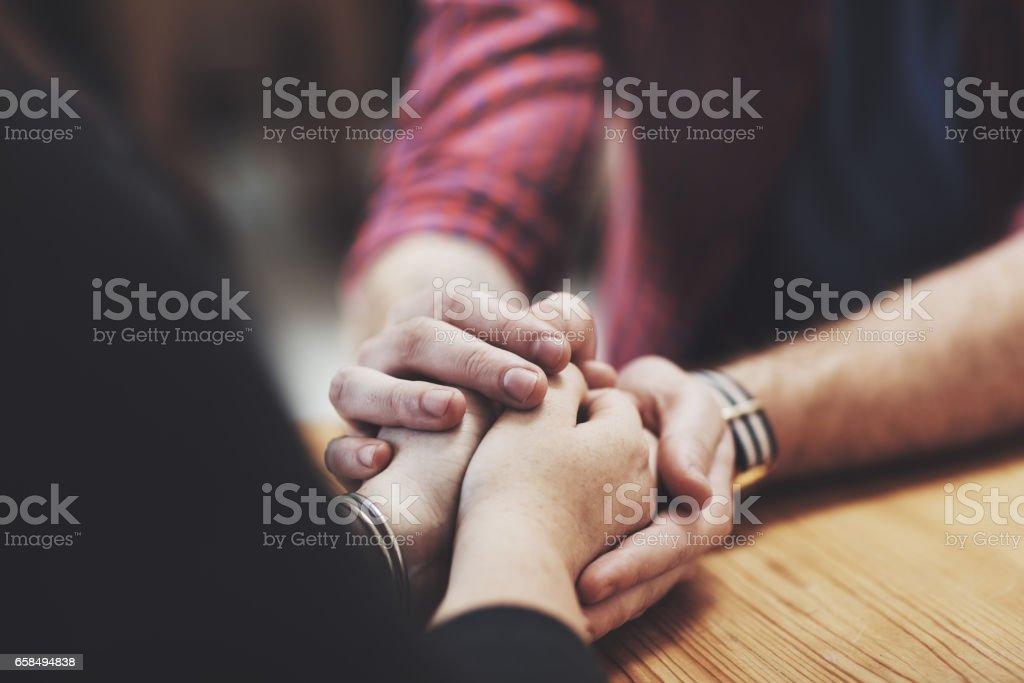 Heartfelt hands stock photo