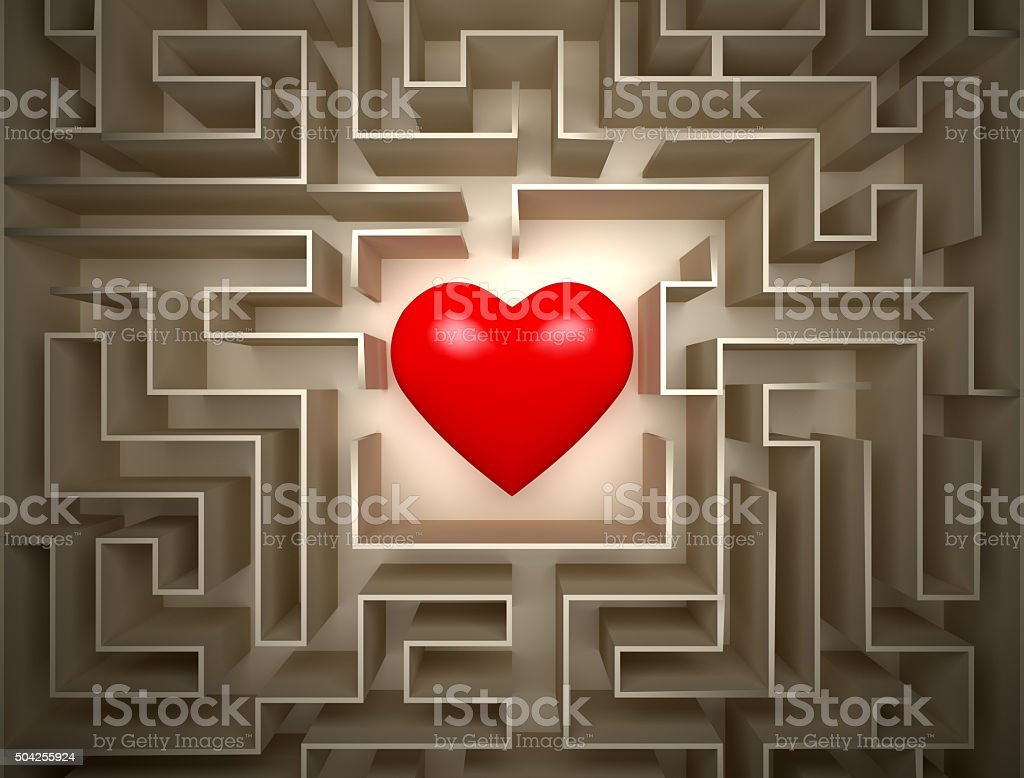 hearth in labyrinth stock photo