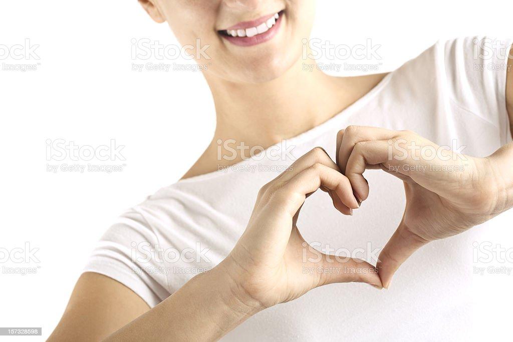 Hearth shape royalty-free stock photo