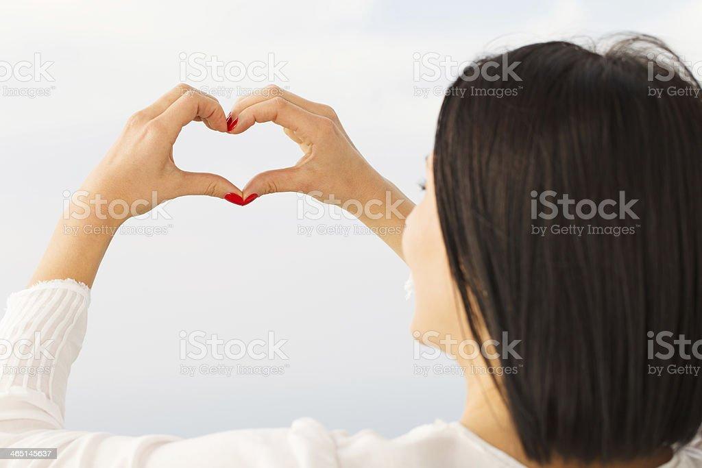 Hearth shape stock photo