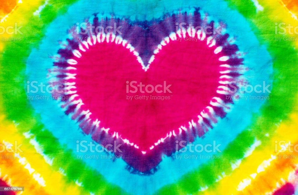 hearth shape tie dye pattern background.