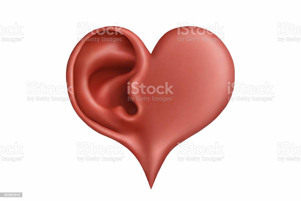 Heart&hearing royalty-free stock photo