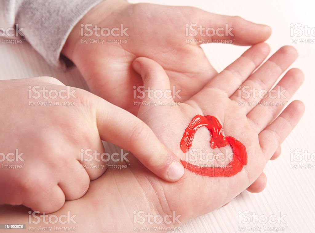 Hearts and hands royalty-free stock photo