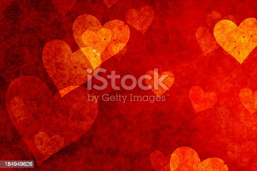 istock Hearts background in red shade 184949626