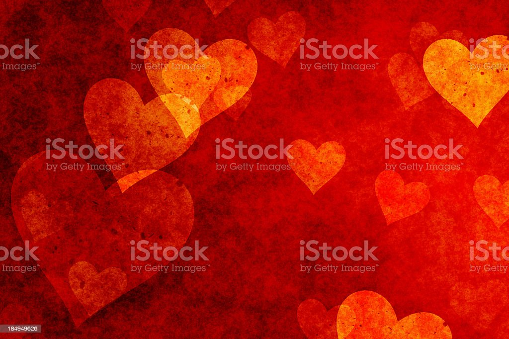 Hearts background in red shade stock photo