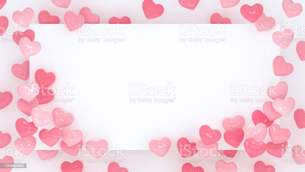 Hearts Frame Background Valentines Day Wallpaper 3d Illustration Wedding Or Marriage Celebration Romantic Poster Or Banner Hearts Backdrop Pastel Pink Love Place For Text Stock Photo Download Image Now Istock