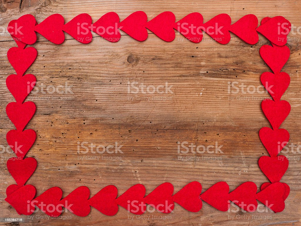 Hearts frame royalty-free stock photo