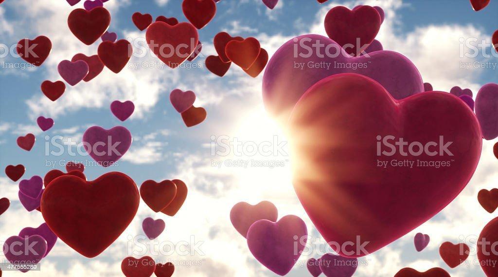 Hearts Glow stock photo
