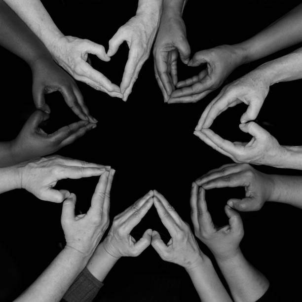 hearts  hand mandala  womens hands of diversity - battle of the sexes concept stock pictures, royalty-free photos & images