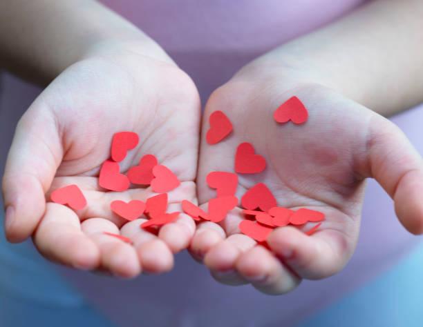 Hearts in Hand stock photo
