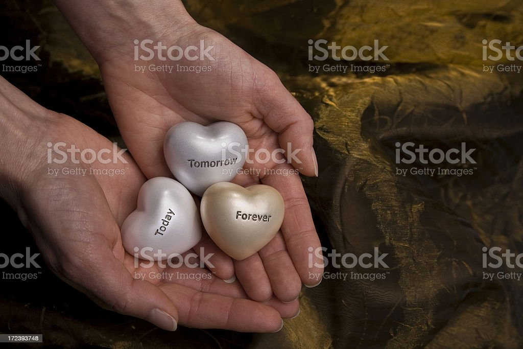 Hearts in Hands (XL) royalty-free stock photo