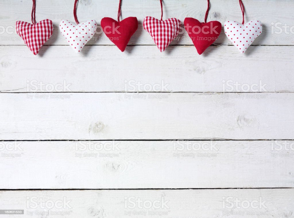 Hearts in Line royalty-free stock photo