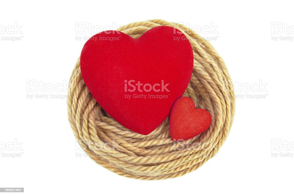 Hearts in nest royalty-free stock photo