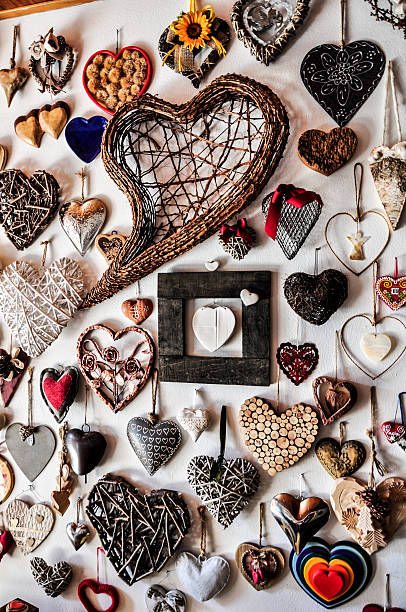 Hearts of all shapes stock photo