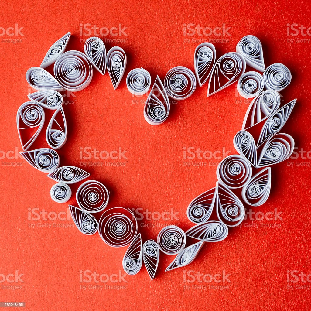 Hearts Of Paper Quilling For Valentines Day Stock Photo More