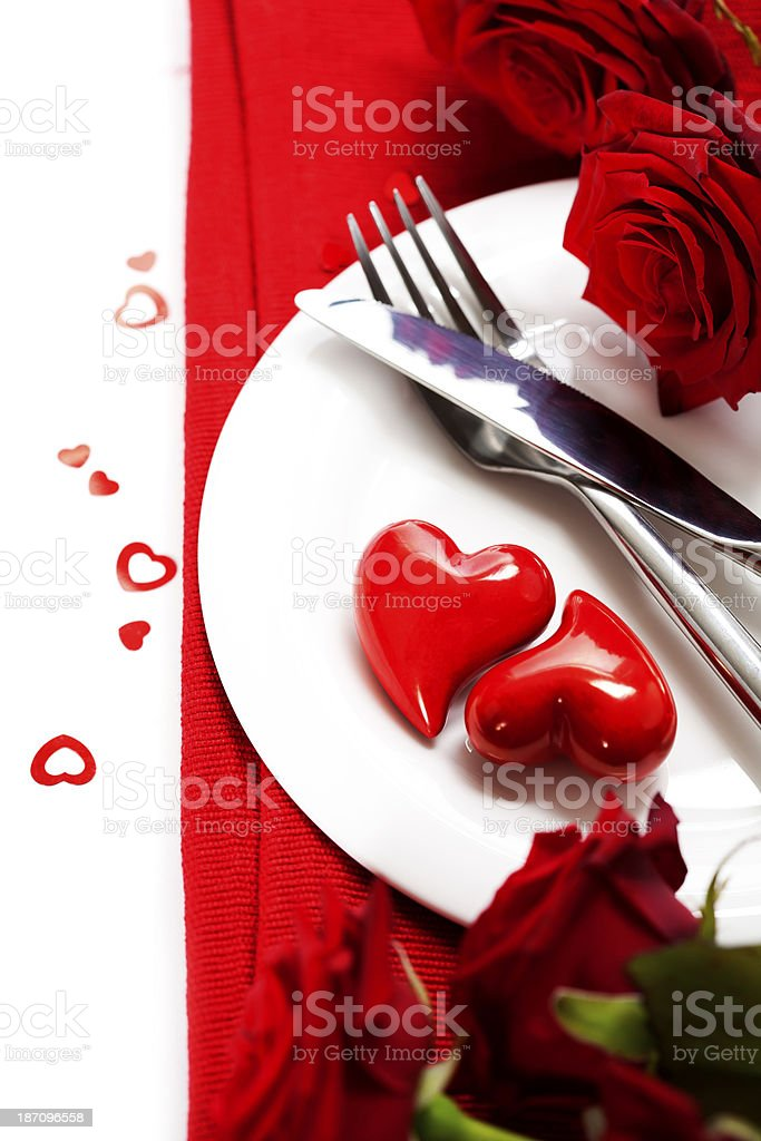hearts on a plate royalty-free stock photo