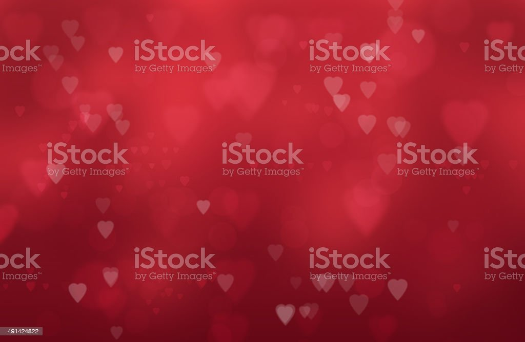 hearts on a red background