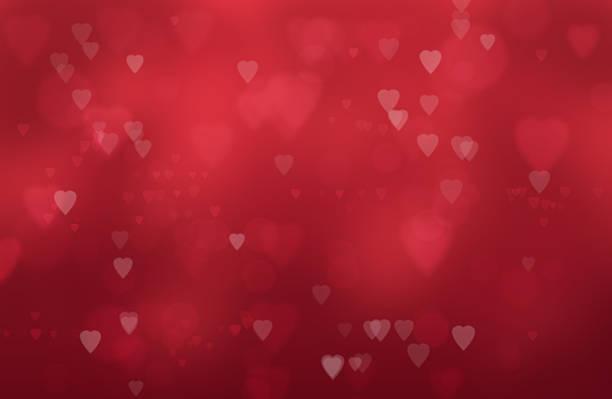 hearts on 빨간색 배경기술 - 발렌타인 카드 뉴스 사진 이미지