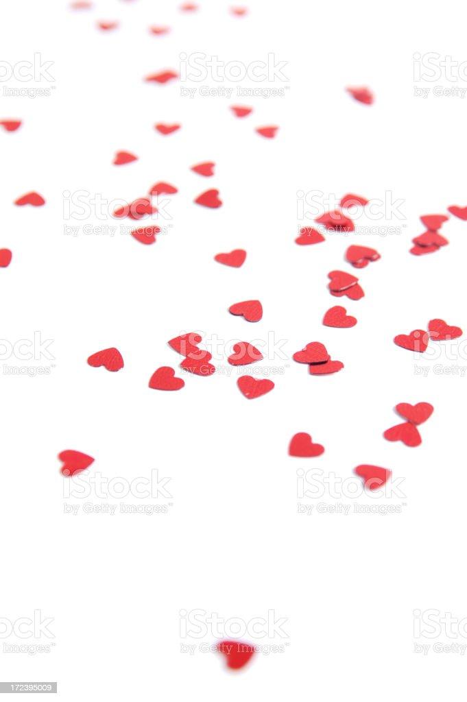 Hearts on white royalty-free stock photo