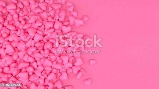 1073585628 istock photo 3D Hearts 1187322444