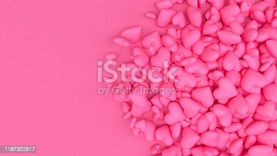 1073585628 istock photo 3D Hearts 1187322517
