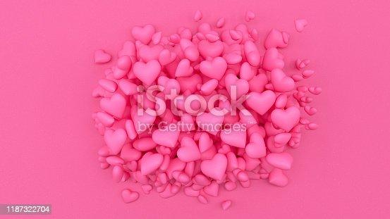 1073585628 istock photo 3D Hearts 1187322704