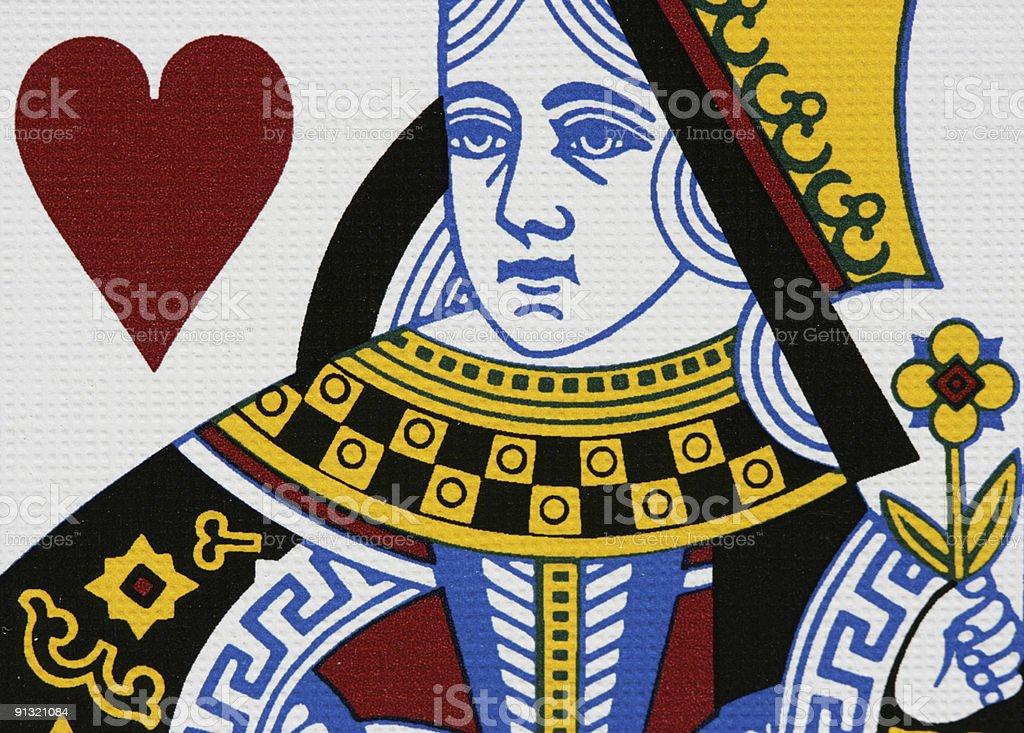 Hearts queen stock photo