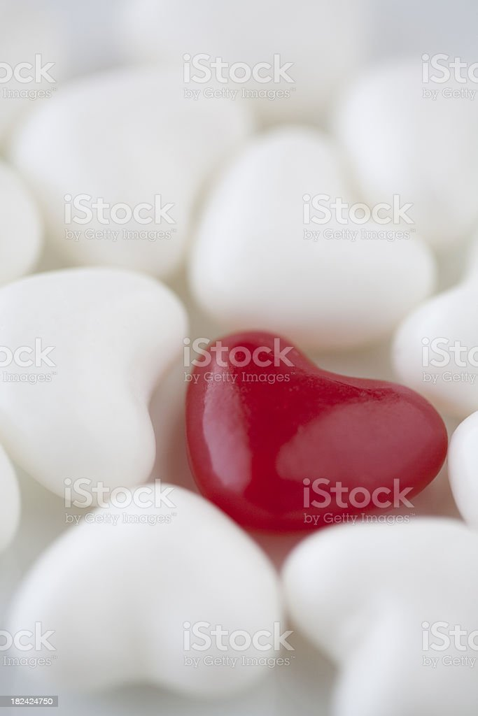 Hearts Red and White royalty-free stock photo