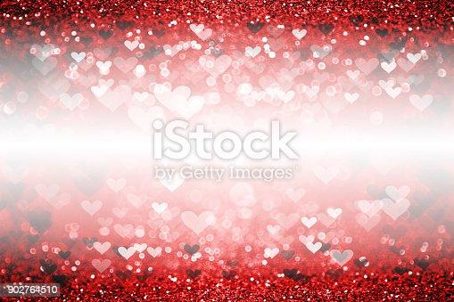 866754590 istock photo Hearts Romance Sparks Background Valentine 902764510