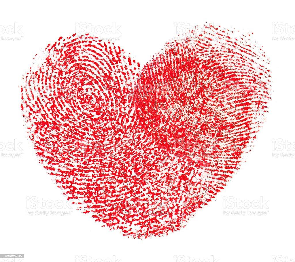Hearts shape fingerprint stock photo