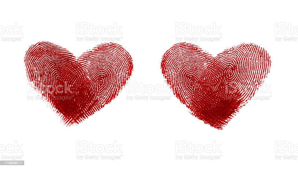 Hearts shape - fingerprint # 1 stock photo