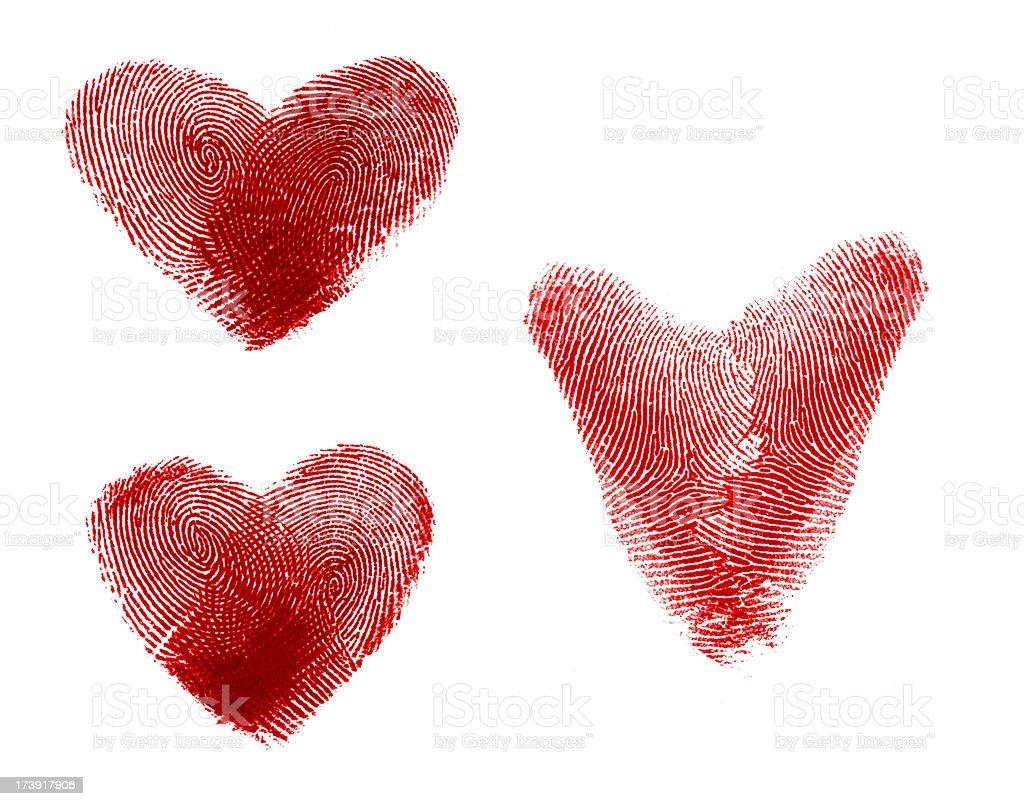 Hearts shape - fingerprint # 2 stock photo