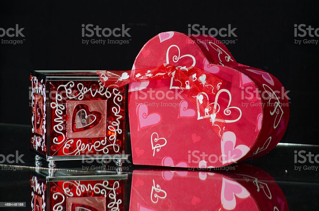 Hearts with love. stock photo