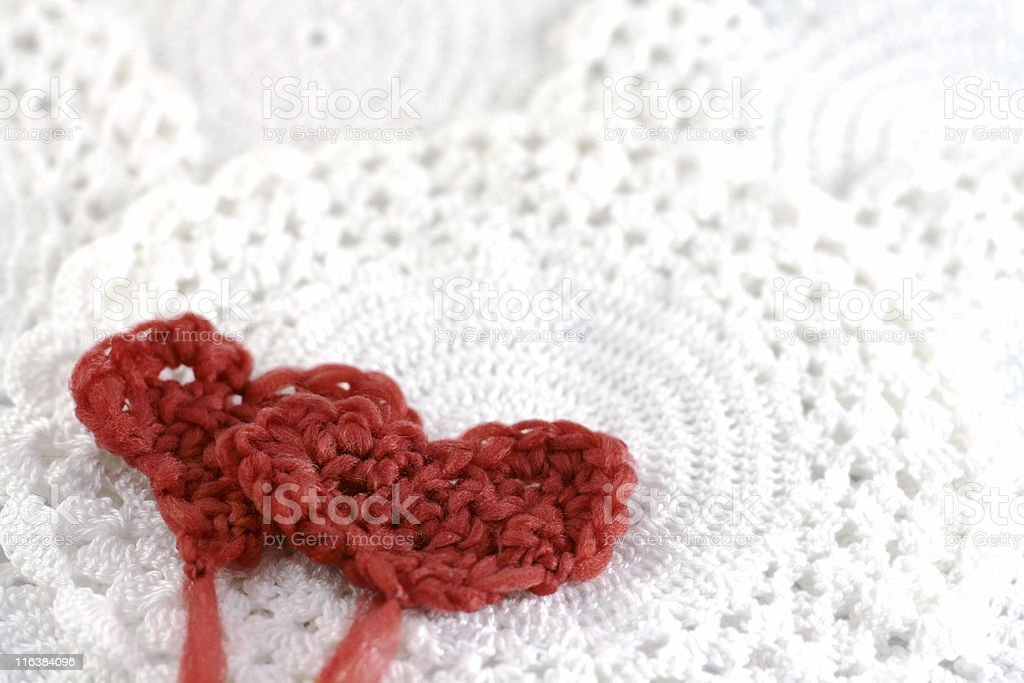 hearts with wool royalty-free stock photo