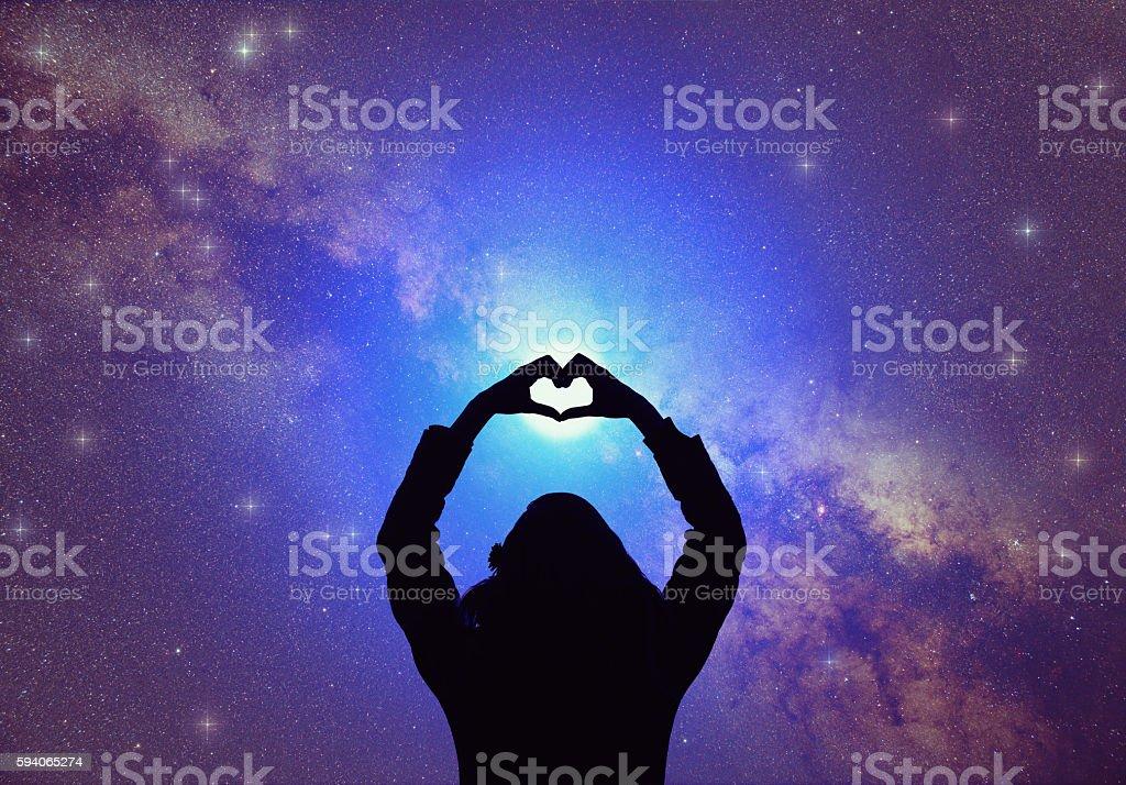 Heart-shape for the stars. stock photo