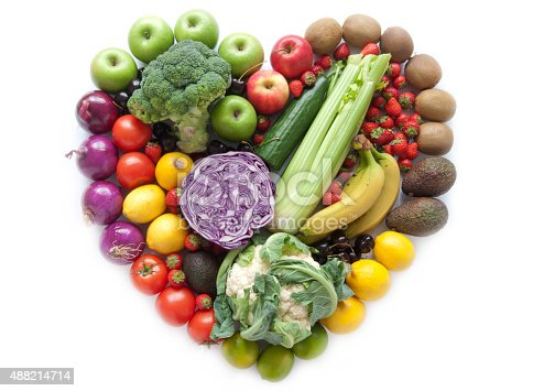 istock Heartshape fruits and vegetables 488214714