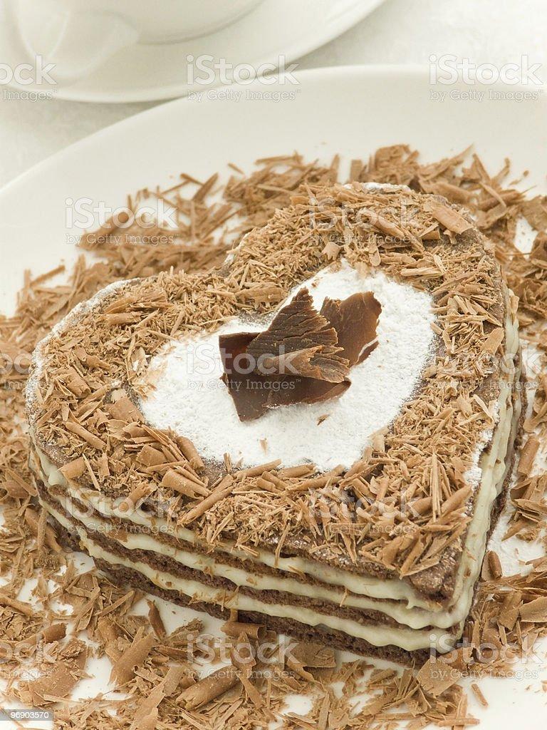 Heart-shaped cake royalty-free stock photo