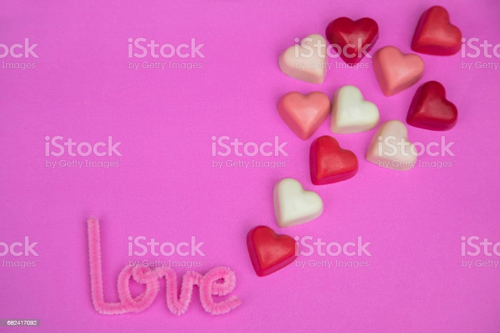 heart-shaped chocolate  pralines royalty-free stock photo