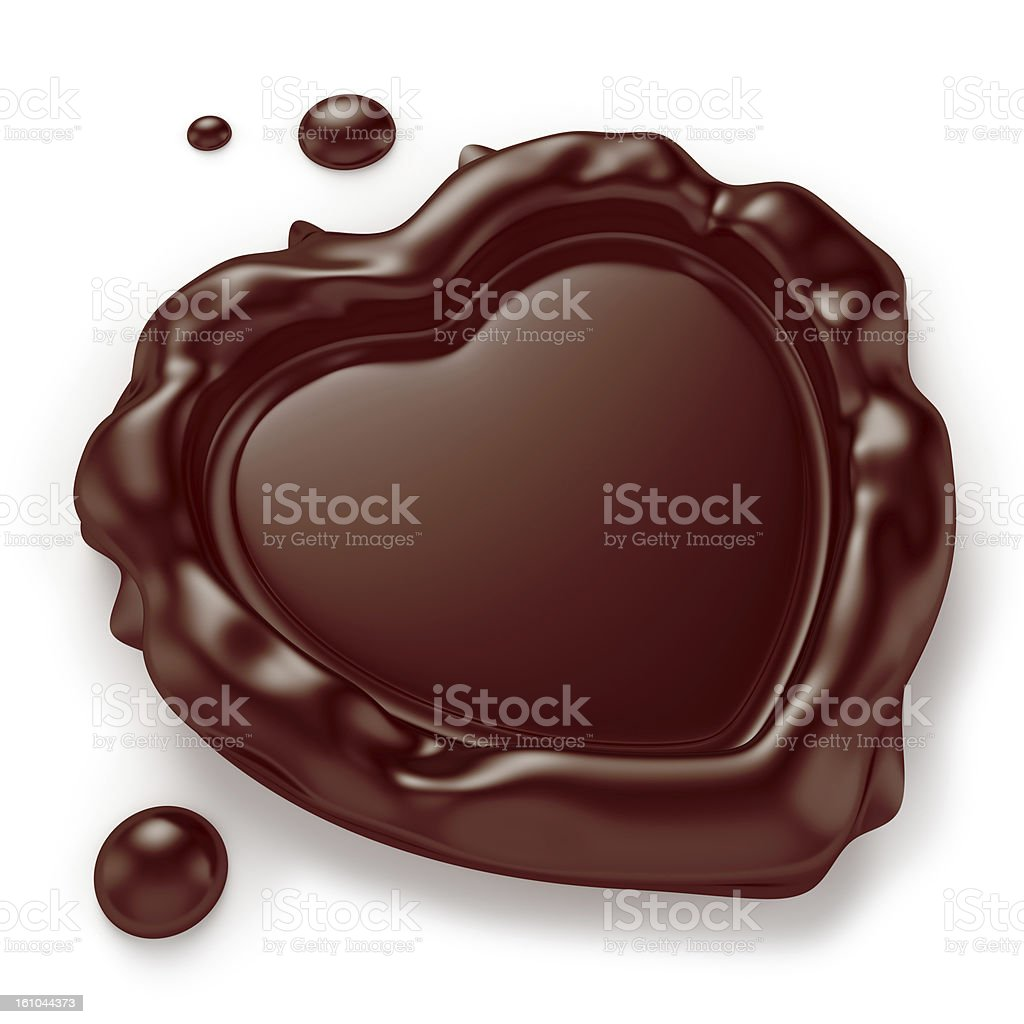 Heart-Shaped Chocolate Seal royalty-free stock photo